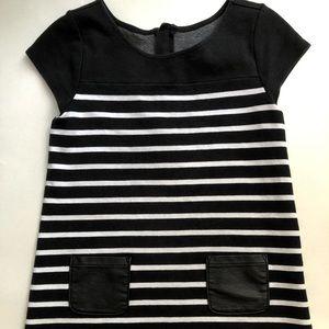 Gymboree Black &white Striped Dress 8Y